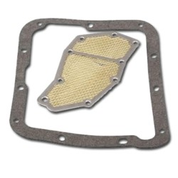 Filter and Pan Gasket Kit - Automatic Transmission - C-4 - Repro ~ 1967 - 1968 Mercury Cougar / 1967 - 1973 Ford Mustang 1964 mustang,1965 mustang,1966 mustang,1967,1967 cougar,1967 mustang,1968,1968 cougar,1968 mustang,1969,1969 mustang,1970,1970 mustang,1971,1971 mustang,1972,1972 mustang,1973,1973 mustang,amp,automatic,c4z,c5z,c6z,c7w,c7z,c8w,c8z,c9z,cougar,d0z,d1z,d2z,d3z,filter,ford,ford mustang,gasket,kit,mercury,mercury cougar,mustang,new,pan,repro,reproduction,transmission,dip,stick,,seal