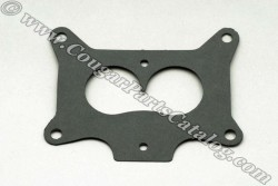 Carburetor Spacer Plate - Gasket - 390-2V - Repro ~ 1967 - 1970 Mercury Cougar / 1967 - 1970 Ford Mustang 1967,1967 cougar,1967 mustang,1968,1968 cougar,1968 mustang,1969,1969 cougar,1969 mustang,1970,1970 cougar,1970 mustang,2bbl,390,c7w,c7z,c8w,c8z,c9w,c9z,carb,carburetor,cougar,d0w,d0z,ford,ford mustang,gasket,mercury,mercury cougar,mustang,new,plate,repro,reproduction,spacer,seal